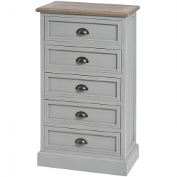 Churchill Collection Five Draw Tallboy