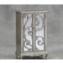 Double Cupboard Rococo Cabinet - Antique Silver
