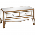 Venetian Mirrored 2 Drawer Coffee Table