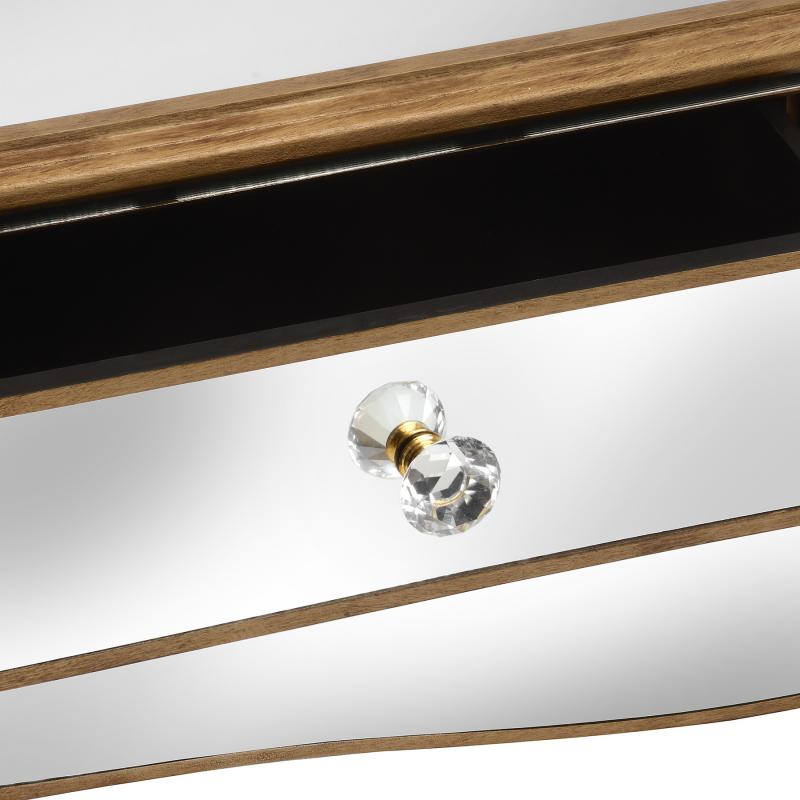 Venetian Lido 2 Drawer Mirrored Coffee Table: Venetian-mirrored-2-drawer-coffee-table