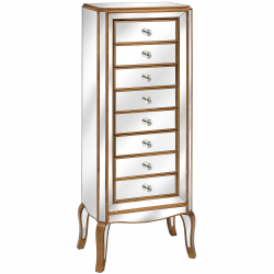 Venetian Mirrored 8 Drawer Tall Boy