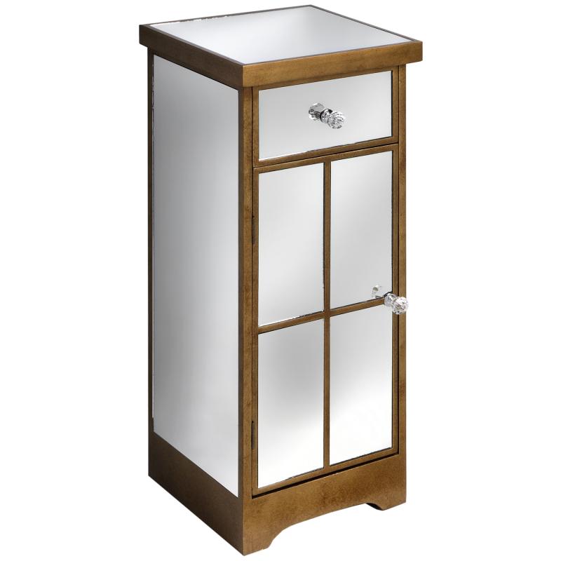 Venetian Lido 2 Drawer Mirrored Coffee Table: Venetian-mirrored-lamp-table-with-drawer-and-cupboard