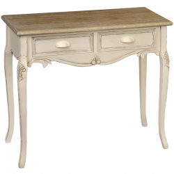 Country Twin Drawer Console Table
