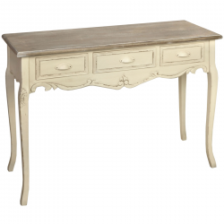Country Three Drawer Console Table