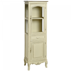 Country Glazed Tallboy With Cupboard