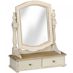 Country Hill Dressing Table Mirror With Two Drawers
