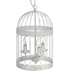 White Birdcage Chandelier