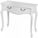 White Whisper Room Two Drawer Console Table