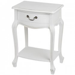 White Whisper Lamp/Bedside Table