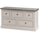 The Stadley Collection 5 Drawer Low Chest