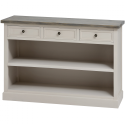The Stadley Collection 3 Drawer Low Bookcase