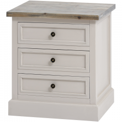 The Stadley Collection 3 Drawer Side Table