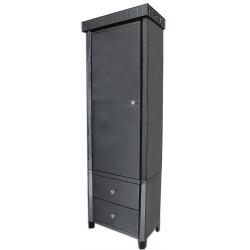 Smoke Black Mirror Tall Cabinet