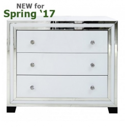 White Manhattan Mirror 3 Drawer Cabinet