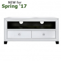 White Manhattan 2 Drawer Entertainment Unit