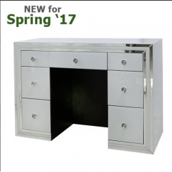 White Manhattan 7 Drawer Dressing Table