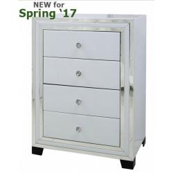 White Manhattan Mirror 4 Drawer Cabinet