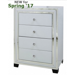 White Manhattan Mirror 4 Drawer Cabinet