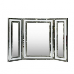 Manhattan White Vanity Mirror White Clear