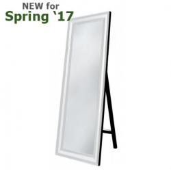 White Manhattan Floor Mirror