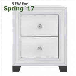 White Manhattan 2 Drawer Cabinet