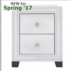 White Manhattan 2 Drawer Cabinet
