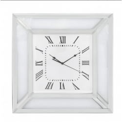 White Manhattan Mirror Wall Clock