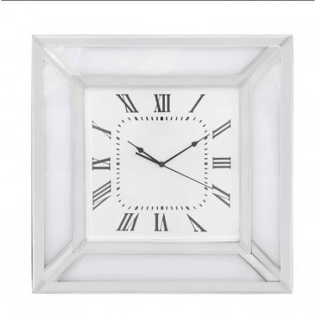 White Manhattan Mirror Wall Clock