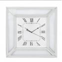 White Manhat Mirror Wall Clock