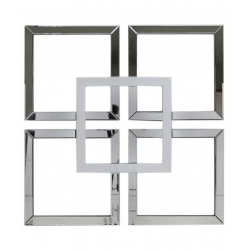 White Manhattan Geo Mirror Wall Art