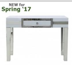 White Manhattan Mirror 1 Drawer Console Table