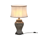 Champagne Mosaic Lamp with Champagne Oval Shade