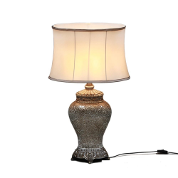 Small Champagne Mosaic Lamp with Champagne Oval Shade