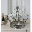 Extra Large Silver Decorative Iron Crown