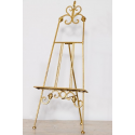 Small Antiqued Gold Metal Table Easel