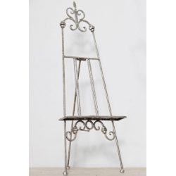 Small Antiqued Silver Metal Table Easel