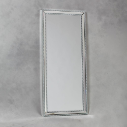 Tall Venetian Pearled Style Edge 'Mayfair' Glass Wall Mirror