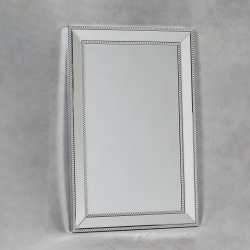 Medium Venetian Pearled Style Edge 'Mayfair' Glass Wall Mirror