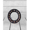 "Marquee Antiqued Black Wooden ""O"" Light Letter"