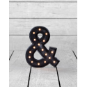 "Marquee Antiqued Black Wooden ""&"" Light"