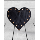 "Marquee Antiqued Black Wooden ""Heart"" Light"