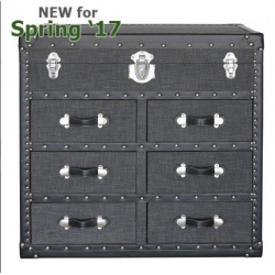 3 Drawer Grey Brook Trunk Chest