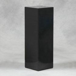 Black Glass 90cm Tall 30cm Square Display Pedestal Stand Column