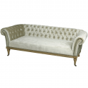 Crushed Velvet Three Seater Chesterfield in Mint