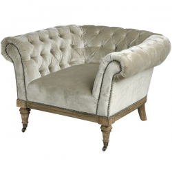 Crushed Velvet Chesterfield Chair in Mint