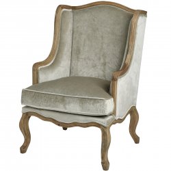 Crushed Velvet Wing Chair in Mint