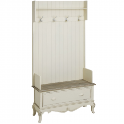 Country Grand Hall Chair With Hooks