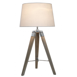 Natural Hollywood Table Lamp With Ivory Shade