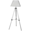White Hollywood Floor Lamp with Square Shade