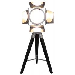 Black Wood Directors Photo luminaire Table Lamp